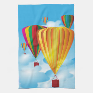 Hot air balloons kitchen towel