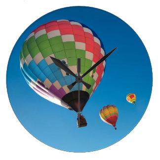 Hot Air Balloons Large Clock