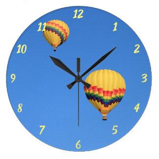 Hot Air Balloons Large Round Clock