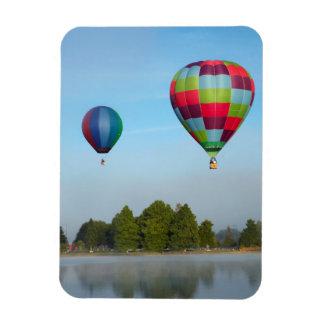 Hot air balloons over a lake,  NZ Rectangular Photo Magnet