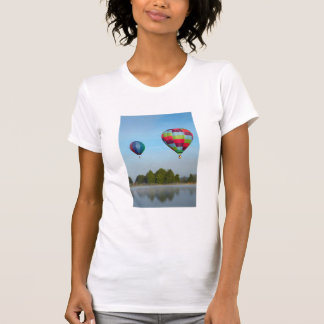 Hot air balloons over a lake,  NZ T-Shirt