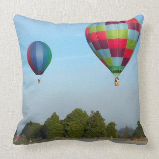 Hot air balloons over a lake,  NZ Throw Pillow