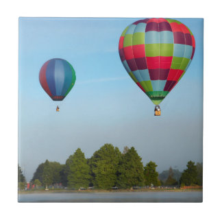Hot air balloons over a lake,  NZ Tile