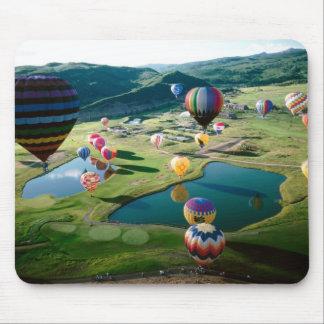 Hot Air Balloons Over Lakes Mousepad