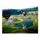 Hot Air Balloons Over Lakes Postcard