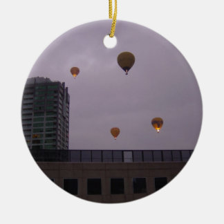 Hot Air Balloons Over Melbourne Ceramic Ornament