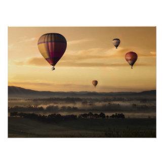 Hot air balloons perfect poster