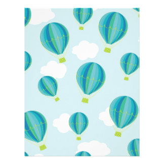 Hot air balloons personalized letterhead