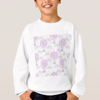 Hot air balloons purple pink nursery decor line sweatshirt