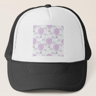 Hot air balloons purple pink nursery decor line trucker hat