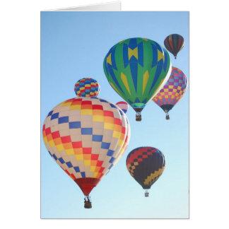 Hot Air Balloons Rising Card
