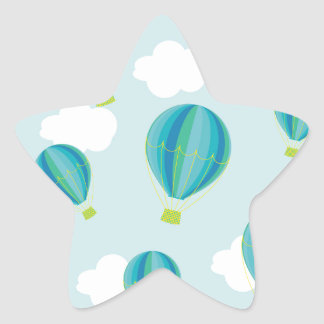 Hot air balloons star sticker