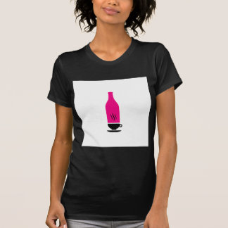 Hot and cold drink graphic tee shirt