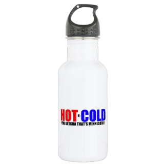 Hot and Cold MN Weather 18oz Water Bottle