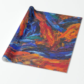 Hot and Cold wrapping paper