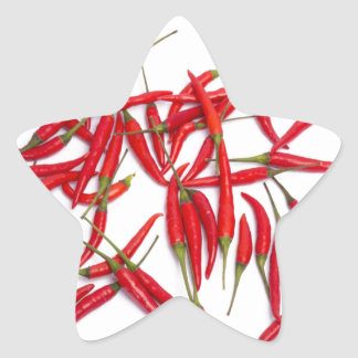 Hot and spicy chillies star sticker