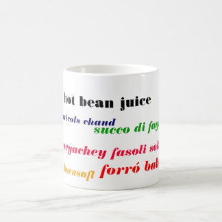 hot bean juice international coffee mug