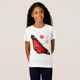HOT BIG BRIGHT BUTTERFLY and Cherry Blossoms T-Shirt