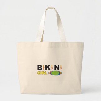 hot bikini girl large tote bag