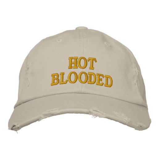 Hot Blooded Embroidered Hat
