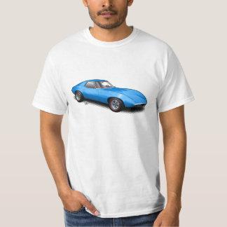 Hot Blue 1965 Banshee Prototype on White T-Shirt