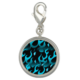 Hot blue flames charms
