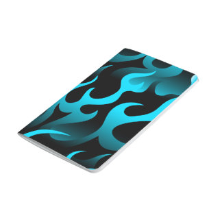Hot blue flames journal
