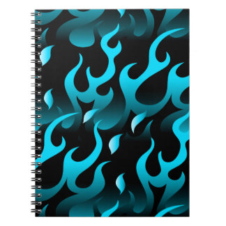 Hot blue flames notebooks