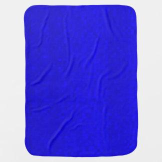 Hot Blue Mosaic Tiles Pattern, Baby Blanket