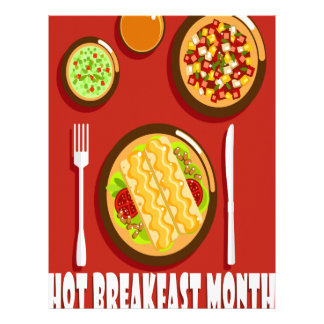 Hot Breakfast Month February - Appreciation Day Letterhead