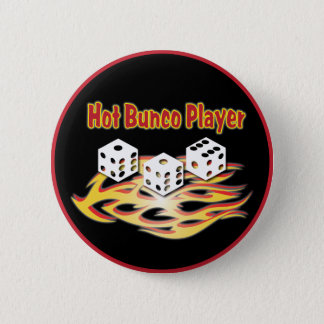 hot bunco player 2 inch round button