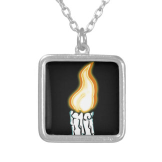 Hot Butt Silver Plated Necklace
