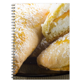 Hot cakes with cheese stuffing spiral notebook