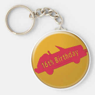 Hot Car 16th Birthday Gifts Keychain