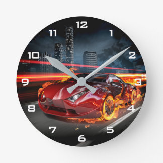 Hot Car Fantasy Wall Clock