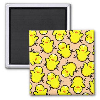 Hot Chicks Square Magnet