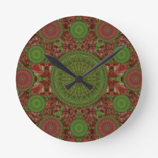 Hot Chile Christmas Mandala Array Clock