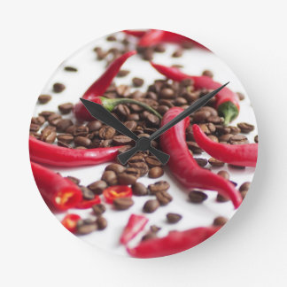 Hot Chili café Round Clock