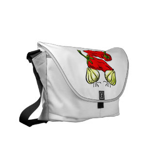Hot Chili Pepper and Onion Graphic Courier Bags
