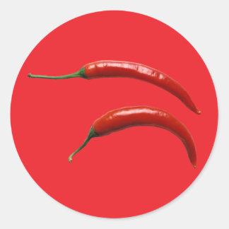 Hot Chili Pepper Classic Round Sticker