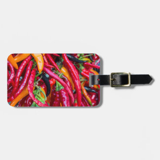Hot Chili Peppers At Farmers Market In Madison Luggage Tag