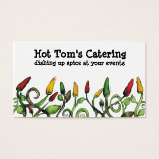 hot chili peppers chef catering business cards