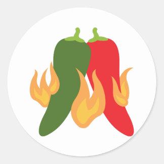 Hot Chili Peppers Round Sticker