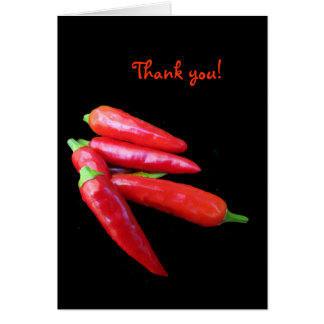 Hot Chili Peppers Thank You Card