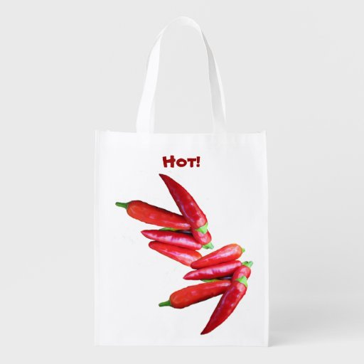 Hot Chili Peppers Reusable Grocery Bag