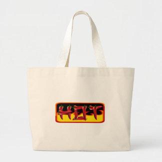 Hot Chilies Text Jumbo Tote Bag