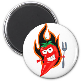 Hot Chilli 2 Inch Round Magnet