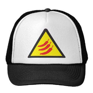 Hot Chilli Pepper Three Warning Sign Trucker Hat