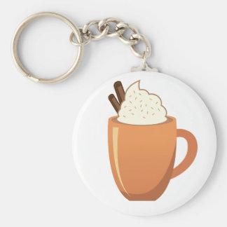 Hot Chocolate Basic Round Button Keychain