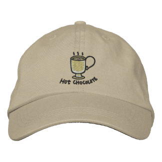 Hot chocolate (black outline) embroidered hat